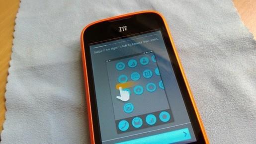 Giao diện của ZTE Open sử dụng FireFox OS