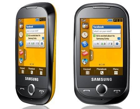 Samsung corby với bàn phím ảo